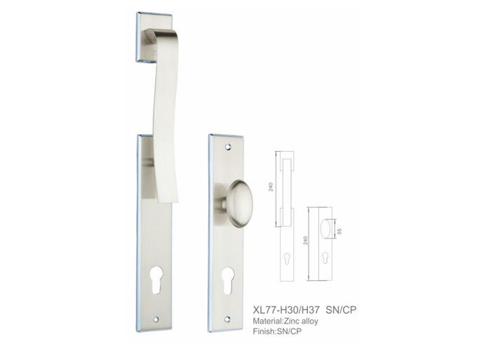 Strong Loading Zinc Alloy Door Handle High Security Widely Application PVD Coating